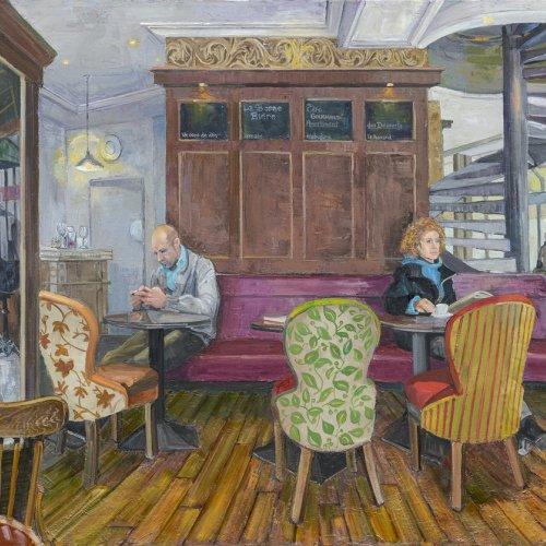 Un Coup de Dés, oil on canvas, 34 x 45 inches, ©2012-2015