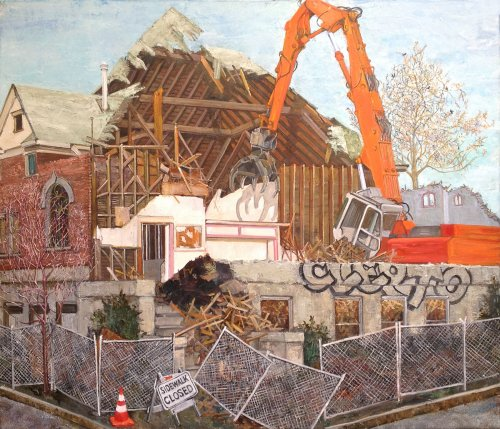 Demolition Man, oil on canvas, 36 x 42 inches, copyright ©2018