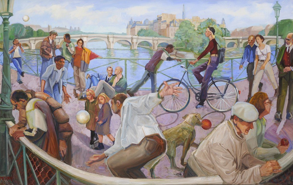 Pont des Arts, oil on canvas, 46 x 72 inches, copyright 2012